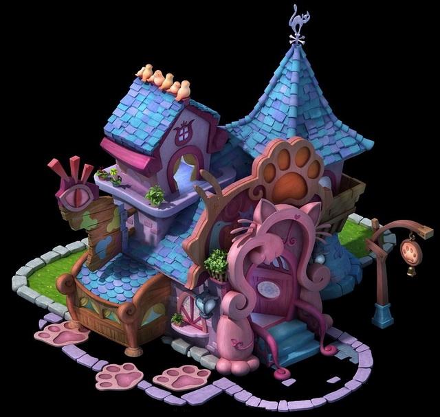 Cartoon Pet Shop 3d model