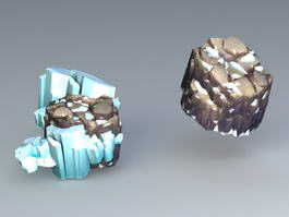 Glacial Snow Field 3d model
