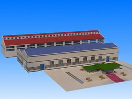 Workshop Buildings 3d model