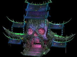 Demon Tower building 3d model