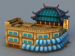Anime Store Building 3d model