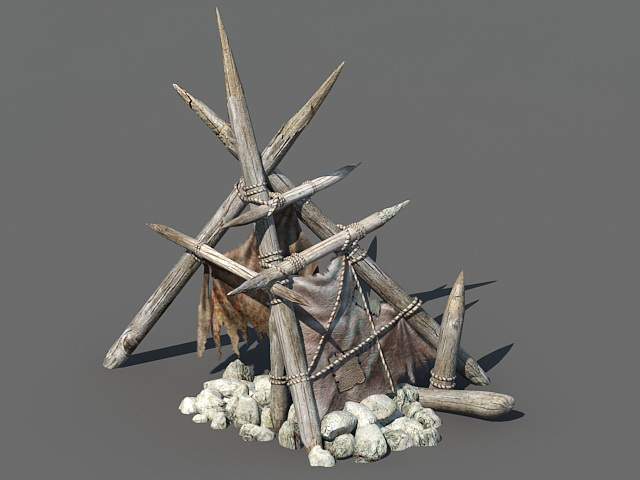 Primitive Tent 3d model & Primitive Tent 3d model 3ds Max files free download - modeling ...