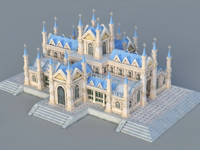 Catholic Church 3d Model 3ds Max Files Free Download