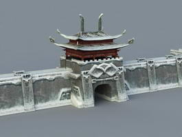 Snow City Wall 3d model