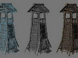 Wood Guard Tower 3d model