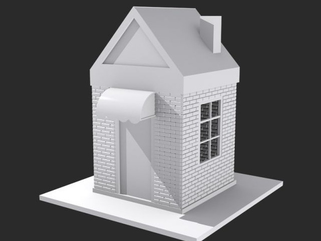 Small House 3d Model Object Files Free Download Modeling