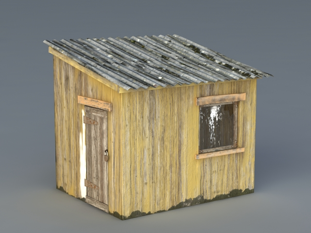 Old Wood Shed 3d Model 3ds Max Files Free Download