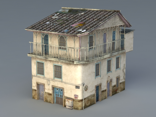 Old Apartment Building 3d Model 3ds Max Files Free