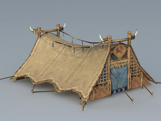 Roman Leather Tent 3d Model 3ds Max Files Free Download