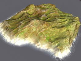 Small Barren Island 3d model