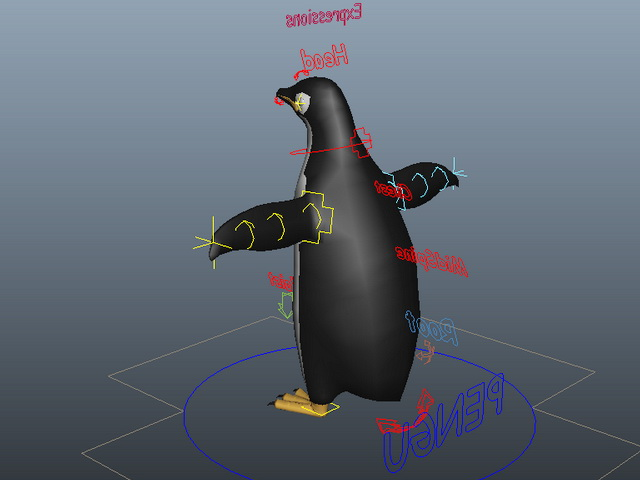 Emperor Penguin Rig 3d model Maya files free download - modeling