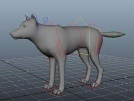 Grey Wolf Rig 3d model