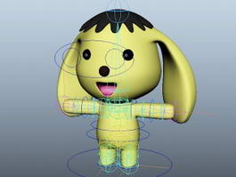 Cartoon Dog Rig 3d model