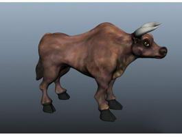 Cattle Bull 3d model