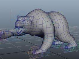 Animated Bear Rig 3d model