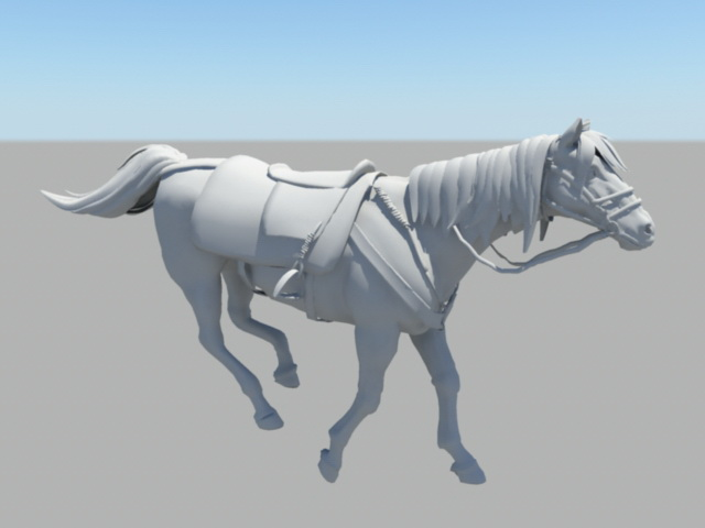 Running Horse Rig 3d Model Maya Files Free Download
