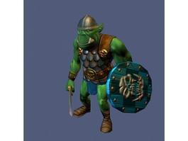 Orc Warrior Rig 3d model