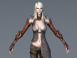 Beautiful High Elf Female 3d model