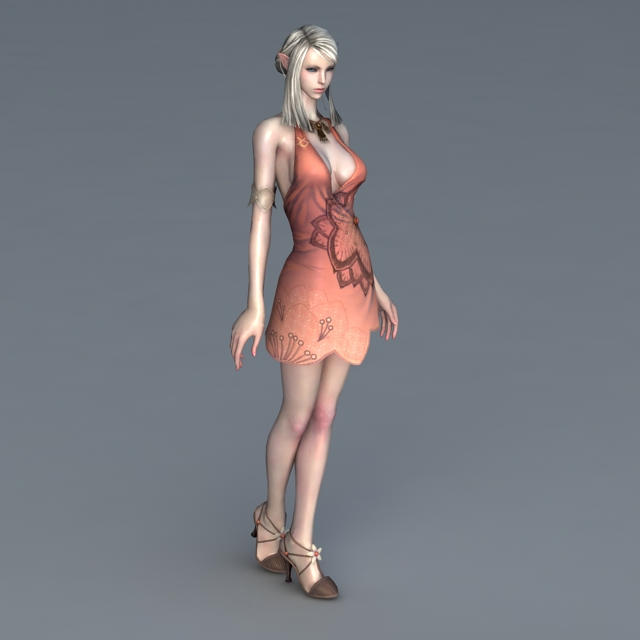 Animated High Elf Girl 3d Model 3ds Max Files Free