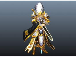 Anime Male Swordsman 3d model