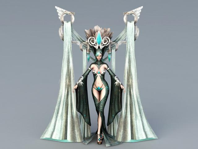 Black Queen Character 3d model