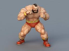 Zangief Street Fighter 3d model