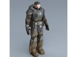 Futuristic Soldier Rig 3d model