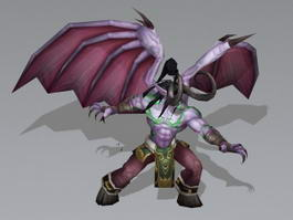 Illidan Stormrage Rig & Animated 3d model