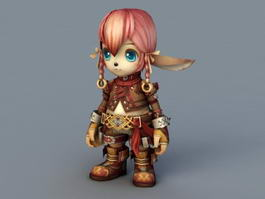 Chibi Elf Girl 3d model