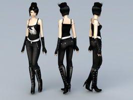 Emo Scene Girl 3d model