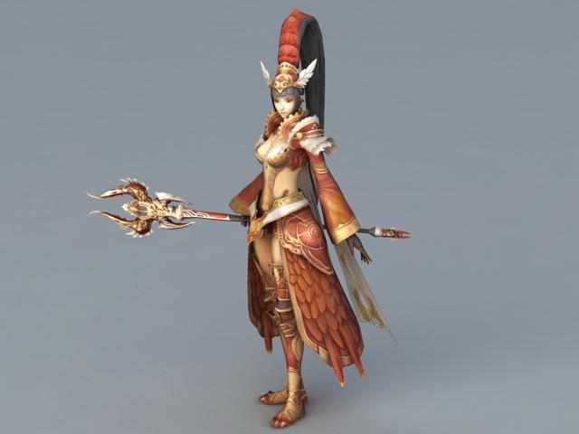 Female Warrior Art 3d model