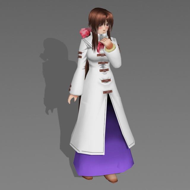 Anime Winter Girl 3d model