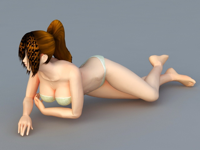 Bikini Beach Girl 3d model