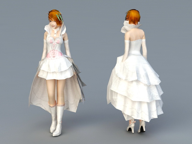 Sweet Bride 3d model