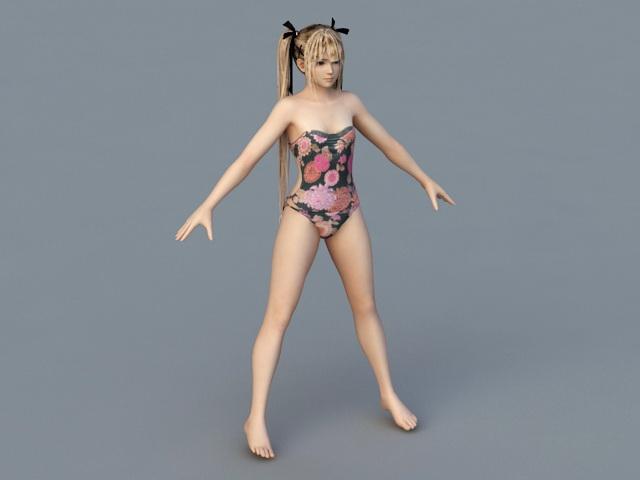 Bikini Teen Girl 3d model