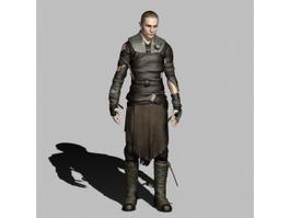 Male Assassin Rogue 3d model