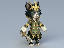 King of Cat 3d model