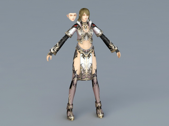 Female Sorceress Art 3d model