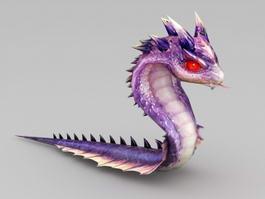 Cute Anime Snake 3d model