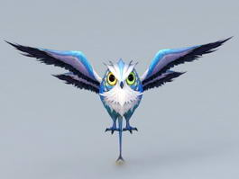 Anime Owl Character 3d model