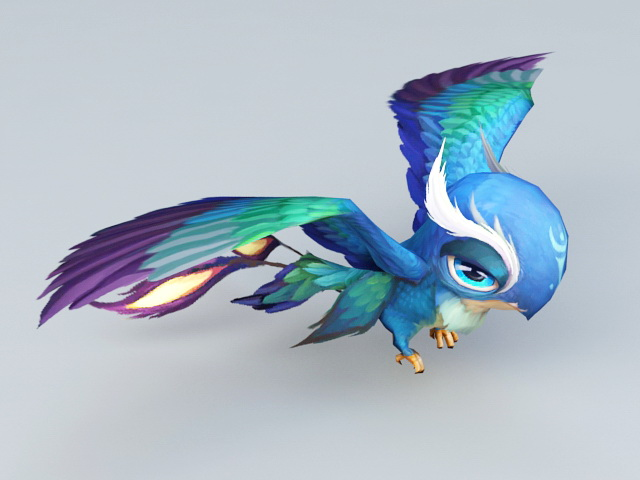 Anime Blue Bird 3d Model 3ds Max Files Free Download