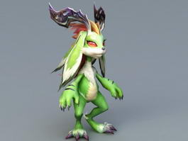 Anime Pet Rabbit 3d model