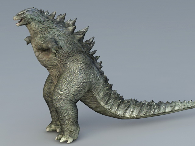 Godzilla monster 3d model collada object files free for Monster 3d model