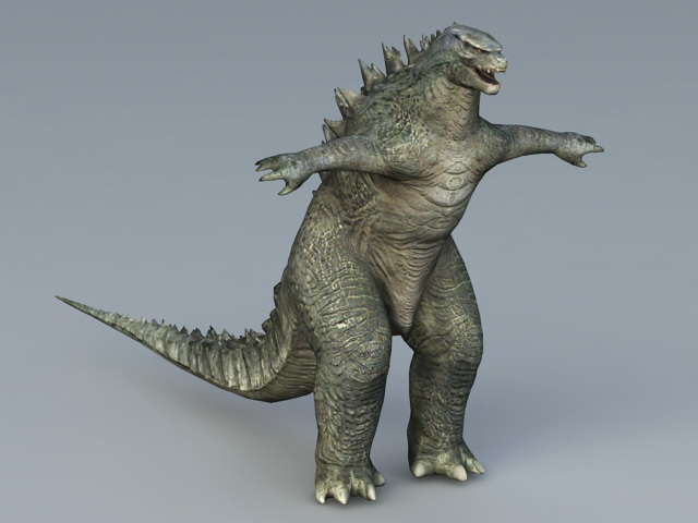 Godzilla Monster 3d Model Collada Object Files Free