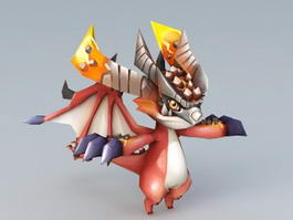 Cute Chibi Dragon 3d model