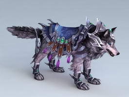 Animated Wolf Mount 3d model