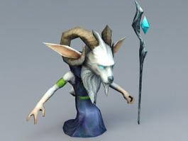 Wizard Goat 3d model