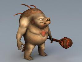 Boar Warrior 3d model