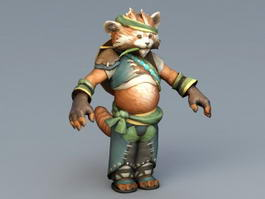 Red Panda Warrior 3d model