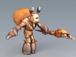 Snail Wizard 3d model